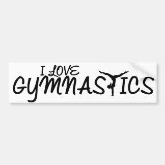 I Love Gymnastics Bumper Sticker