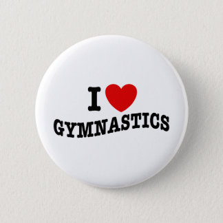 I Love Gymnastics Button
