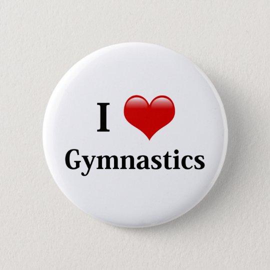 I Love Gymnastics Button
