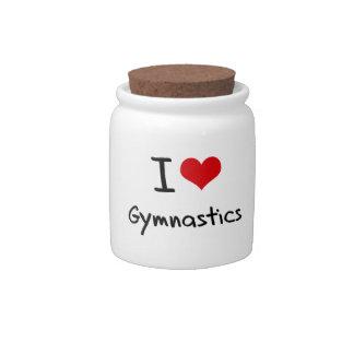 I Love Gymnastics Candy Dish