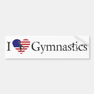 I love gymnastics car bumper sticker