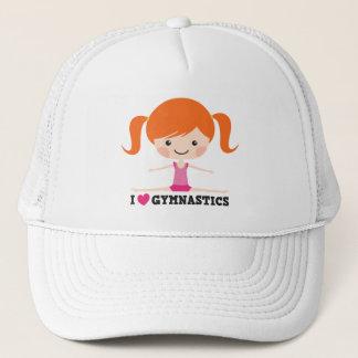 I love gymnastics cartoon girl side splits cap