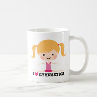 I love gymnastics cartoon girl sidesplits mug