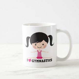 I love gymnastics cartoon girl sidesplits mugs