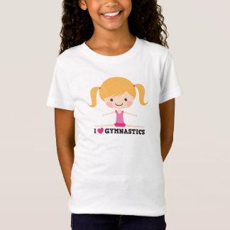 I love gymnastics cartoon girl sidesplits T-Shirt