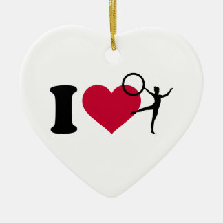 I love Gymnastics Ceramic Ornament