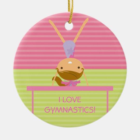 I LOVE GYMNASTICS Christmas Ornament