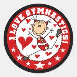I Love Gymnastics Classic Round Sticker