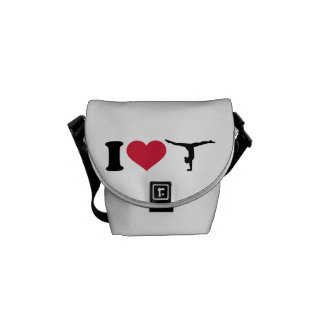 I love Gymnastics Courier Bag