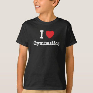 I love Gymnastics heart custom personalized T-Shirt