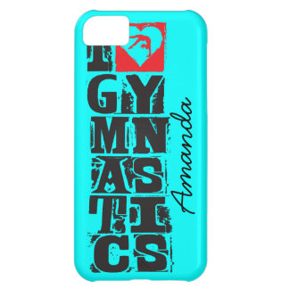 I Love Gymnastics Hunter Personalized iPhone 5C Cover