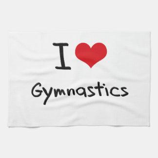 I Love Gymnastics Hand Towels