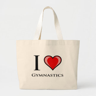 I Love Gymnastics Large Tote Bag