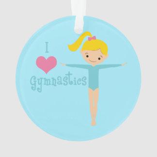 I Love Gymnastics Ornament