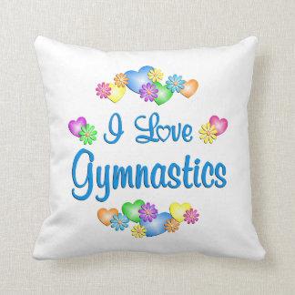 I Love Gymnastics Throw Pillows
