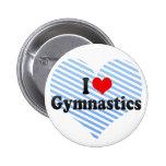 I Love Gymnastics Pinback Button