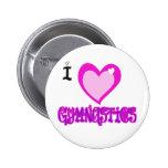 I Love GYMNASTICS Pinback Buttons
