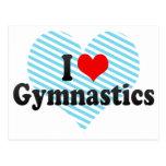 I Love Gymnastics Post Card