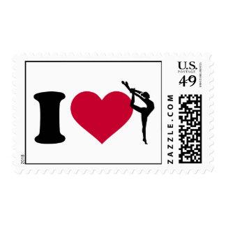 I love Gymnastics Postage
