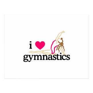 I LOVE GYMNASTICS POSTCARD