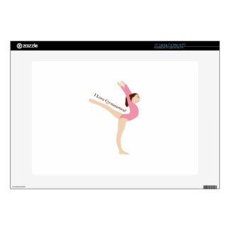 I Love Gymnastics! Laptop Skins