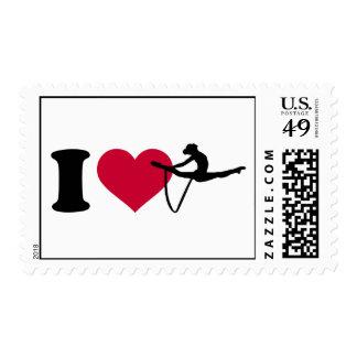 I love Gymnastics Stamp