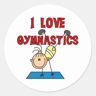I Love Gymnastics Stickers