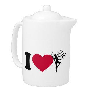 I love Gymnastics Teapot