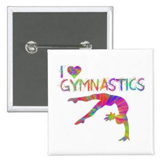 I Love Gymnastics Tie Dye Shirts Bags Stickers etc Pinback Button