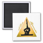 i Love Gymnastics triangle #6 Magnet