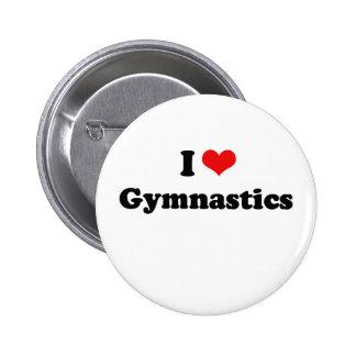 I Love Gymnastics Tshirt Pinback Button