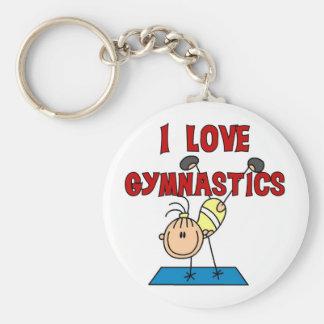 I Love Gymnastics Tshirts and Gifts Keychain