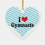 I Love Gymnasts Christmas Ornament