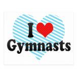 I Love Gymnasts Postcards