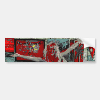 I Love Gypsy Art Bumper Sticker
