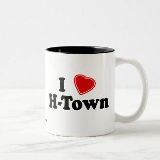 I Love H-Town Two-Tone Coffee Mug