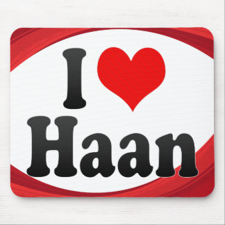 I Love Haan Germany Ich Liebe Haan Germany Mouse Pads