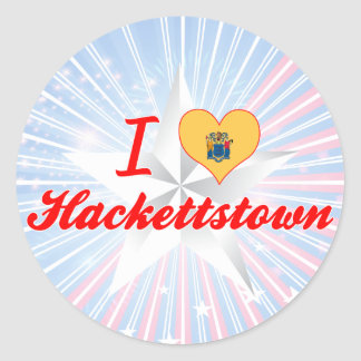 I Love Hackettstown, New Jersey Round Stickers