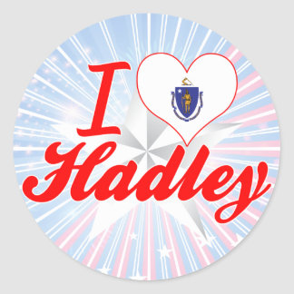 I Love Hadley Massachusetts Round Sticker