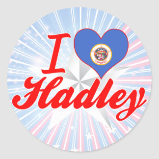 I Love Hadley Minnesota Round Stickers