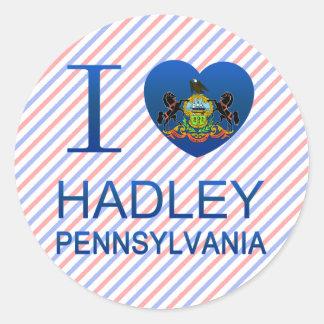 I Love Hadley PA Stickers