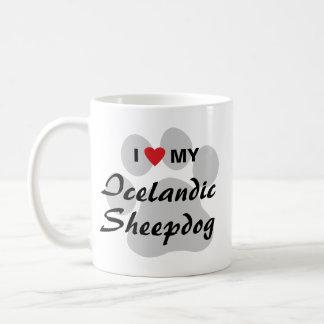 I Love (Haert) My Icelandic Sheepdog Coffee Mug