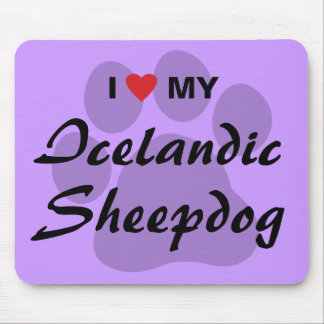 I Love Haert My Icelandic Sheepdog Mouse Pads