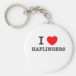 I Love Haflingers (Horses) Keychain