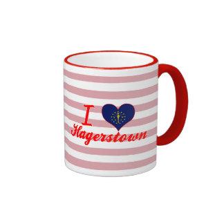 I Love Hagerstown, Indiana Coffee Mugs