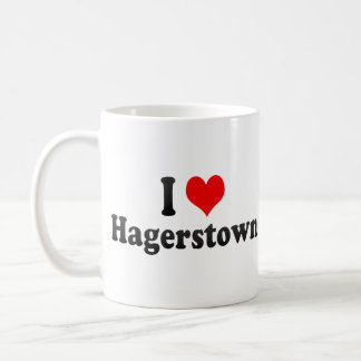 I Love Hagerstown, United States Coffee Mugs
