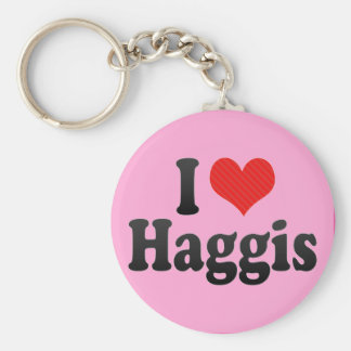 I Love Haggis Basic Round Button Keychain
