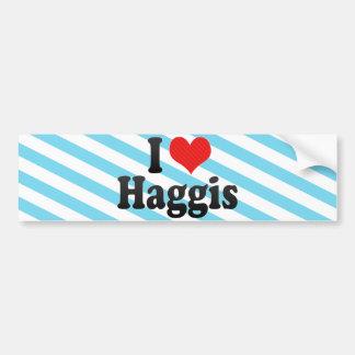 I Love Haggis Bumper Sticker