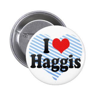 I Love Haggis Button