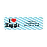 I Love Haggis Custom Return Address Labels